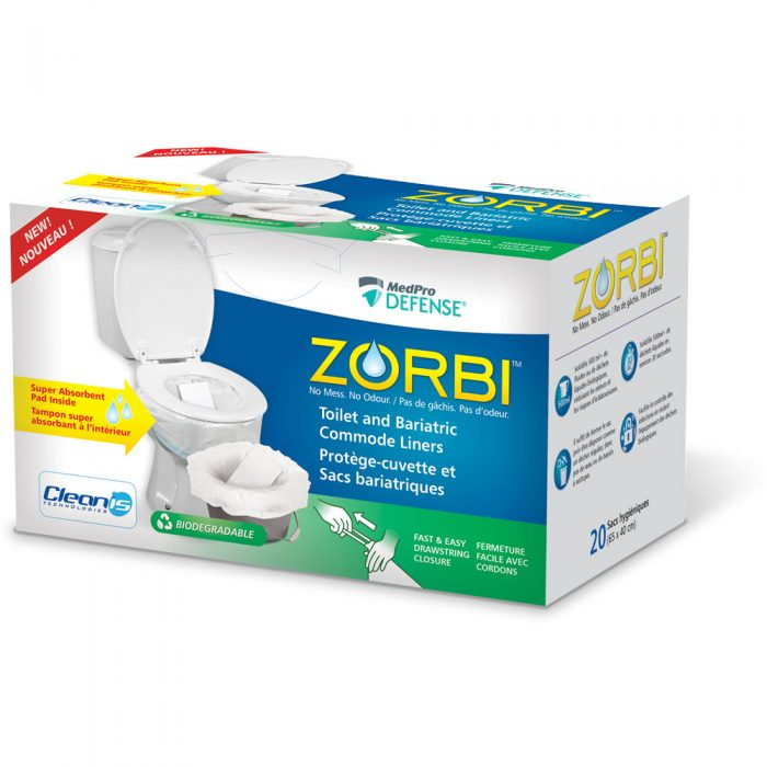 ZORBI™ Toilet and Bariatric Commode Liners