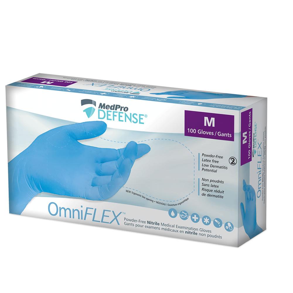 OmniFLEX™ Powder-Free Nitrile Medical Examination Gloves, Medium