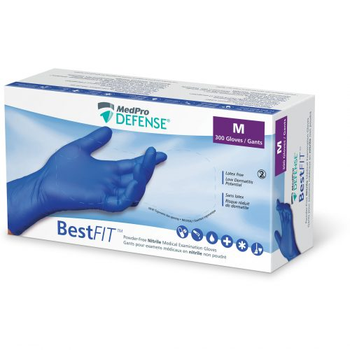 BestFIT Powder-Free Nitrile Medical Examination Gloves, Medium