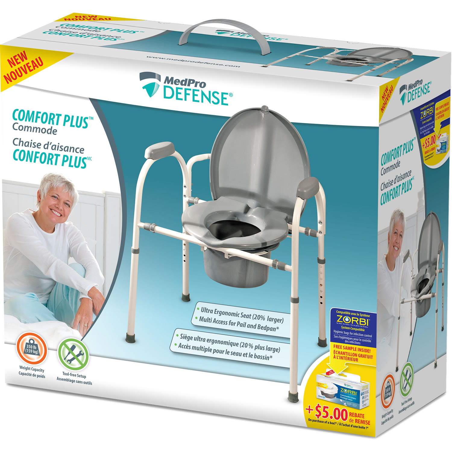 MedPro Defense® Comfort Plus™ Commode
