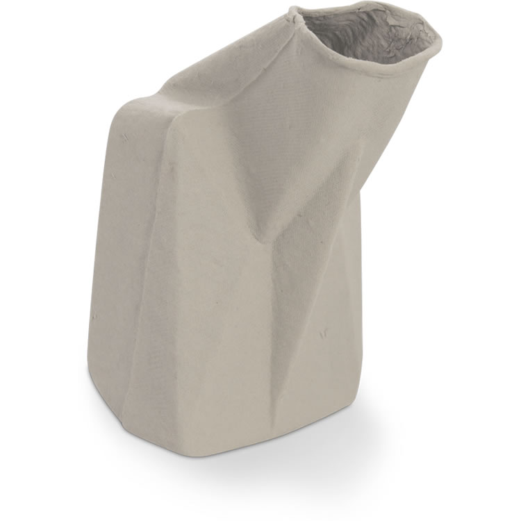 Disposable Pulp Male Urinal, Long Neck - Maceratable