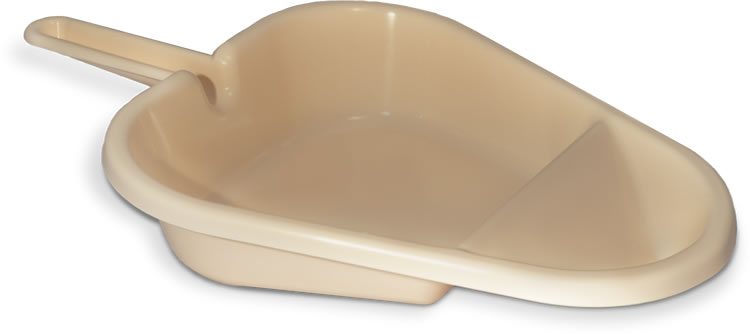 Plastic Fracture bedpan support for pulp disposables