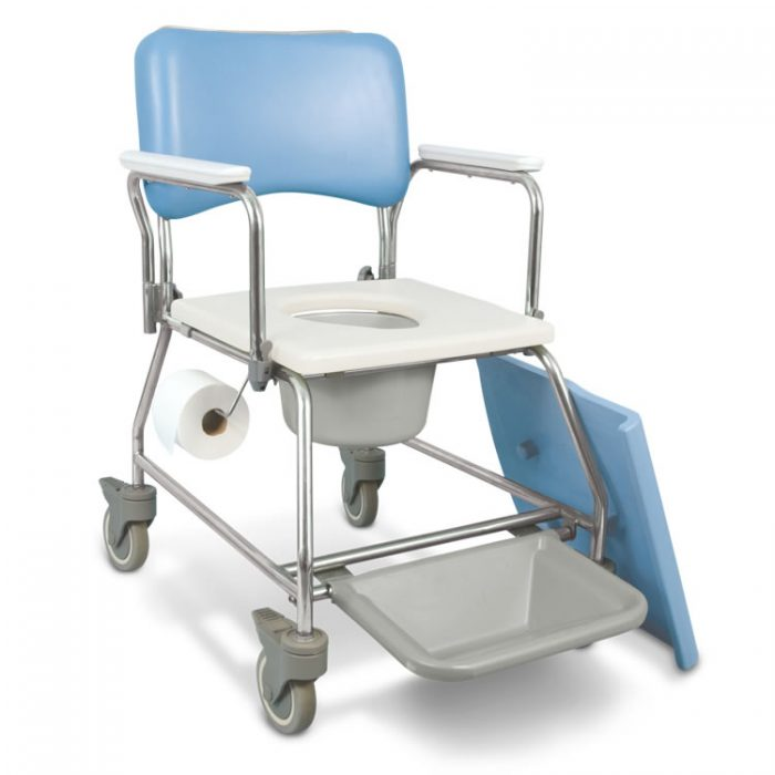AquaCare Shower Commode with Swivel armrests with pail