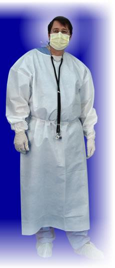 Coated Fluid Repellent Gown