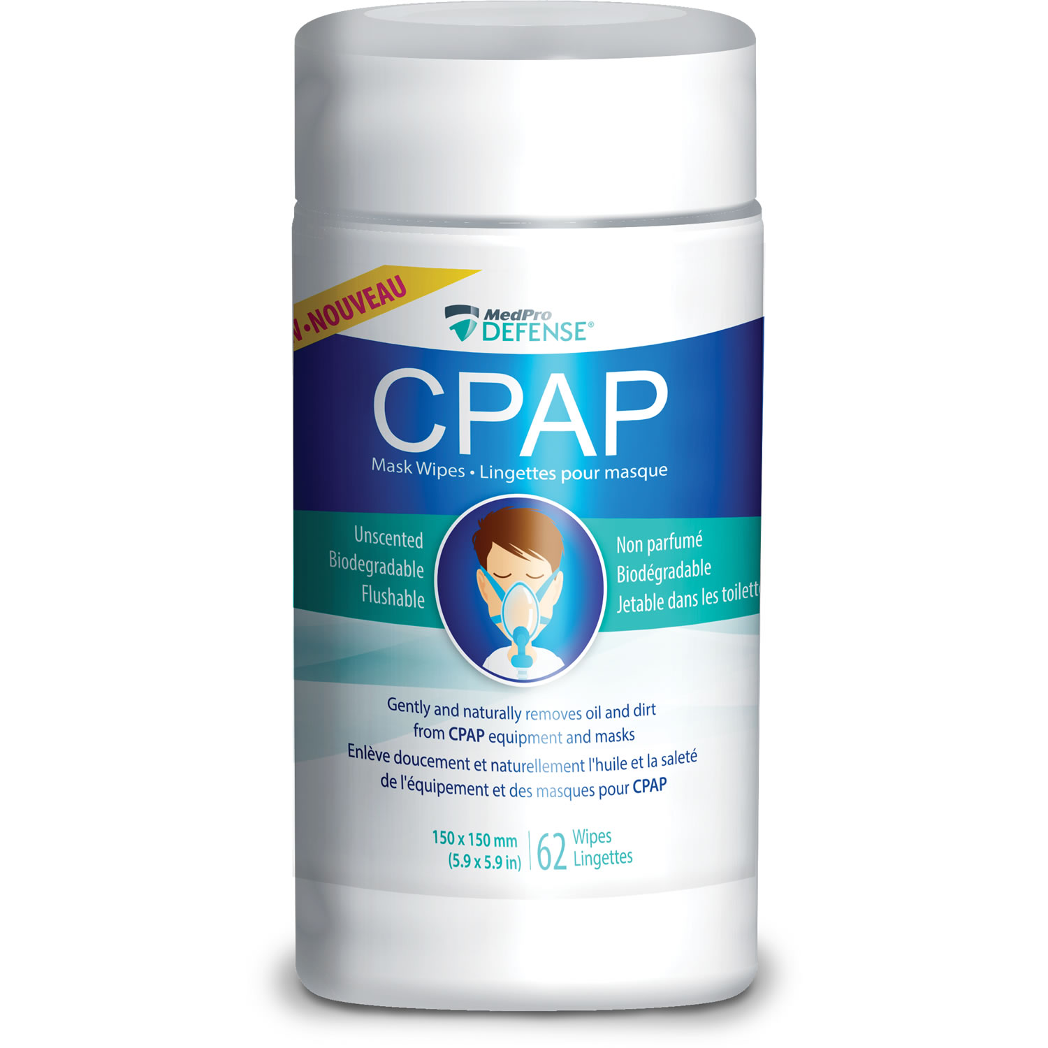 MedPro Defense® CPAP Mask Wipes