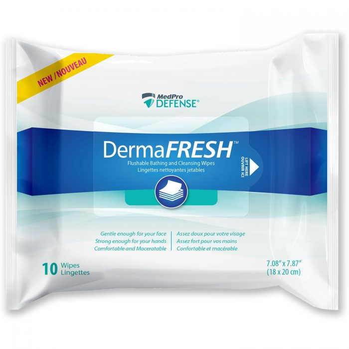 DermaFresh™ Flushable Bathing and Cleansing Wipes