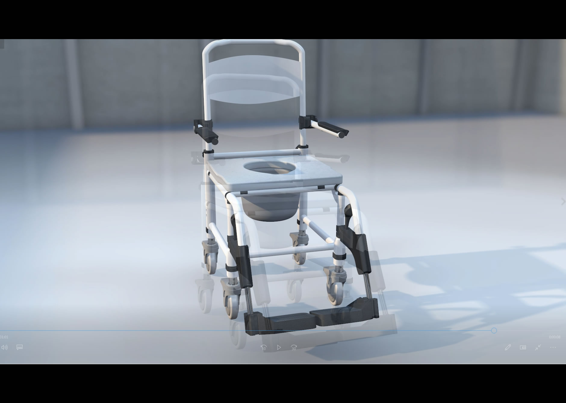 Video - The New Zorbi™ Height Adjustable Shower Commode Chair!