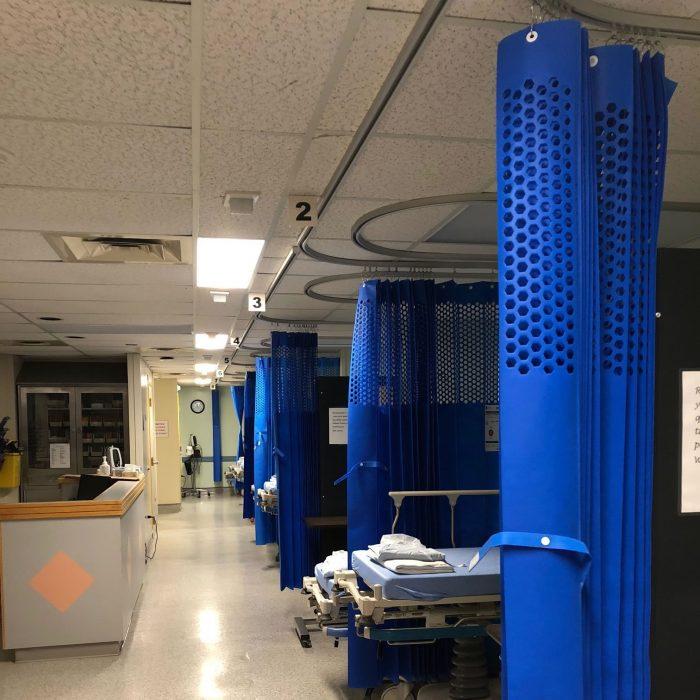 Rideaux d'intimité pour hôpital ou institution